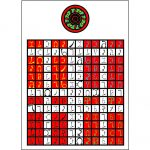Golden Dawn Enochian Watchtower Tablet of Fire