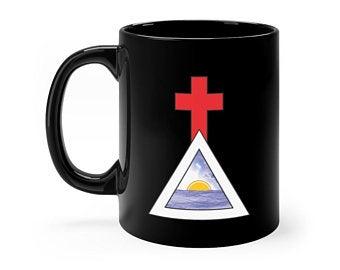 Golden Dawn Cross & Triangle Mug